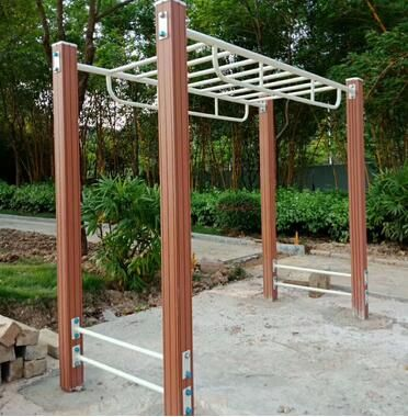 塑木健身器材云梯